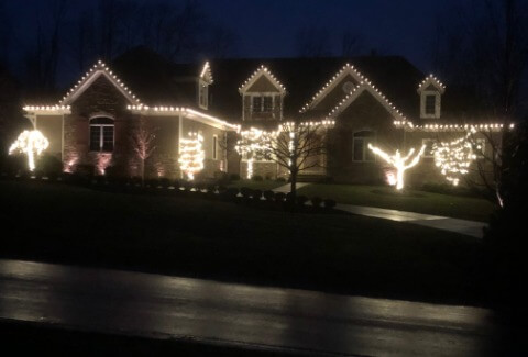 Residential Christmas Light Installation in Cleveland Ohio