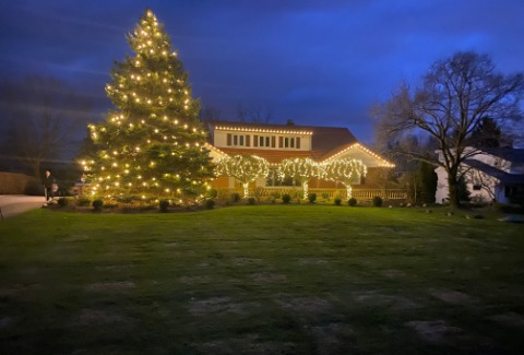 Residential Christmas Light Installation in Lake County, Ohio