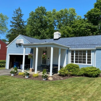 Home with Professional Blue Shingle Installations in Cleveland, Ohio